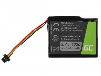 ® Baterie  pro TomTom Start 60, Via 1605, TomTom 4EN62, Li-Ion 1200mAh 3.7V