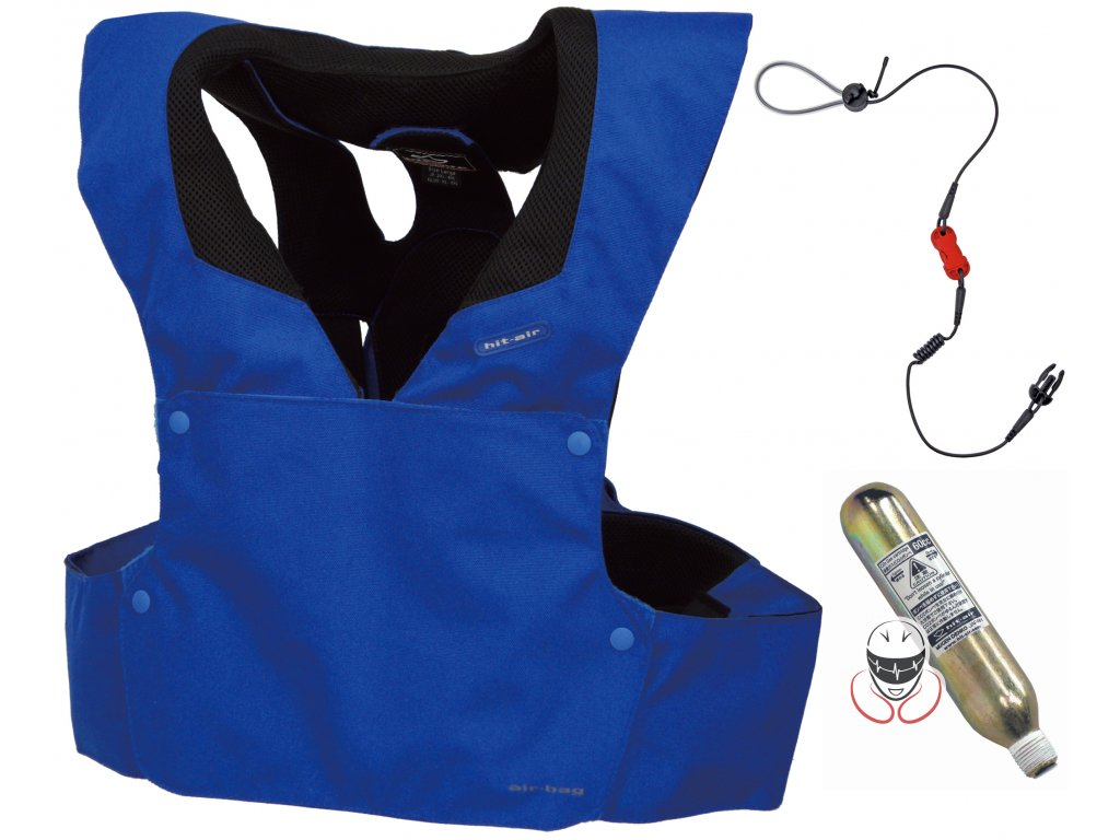 Airbagová motocyklová vesta Hit-Air RS-1 modrá