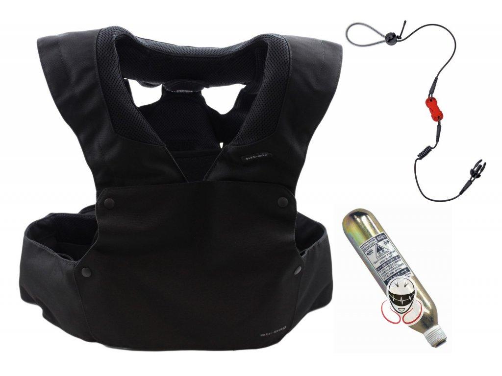 Airbagová motocyklová vesta Hit-Air RS-1 černá