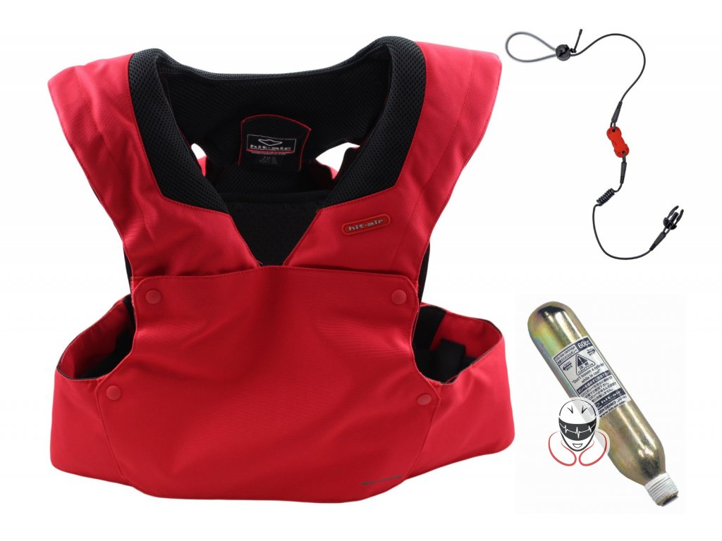 Airbagová motocyklová vesta Hit-Air RS-1 červená