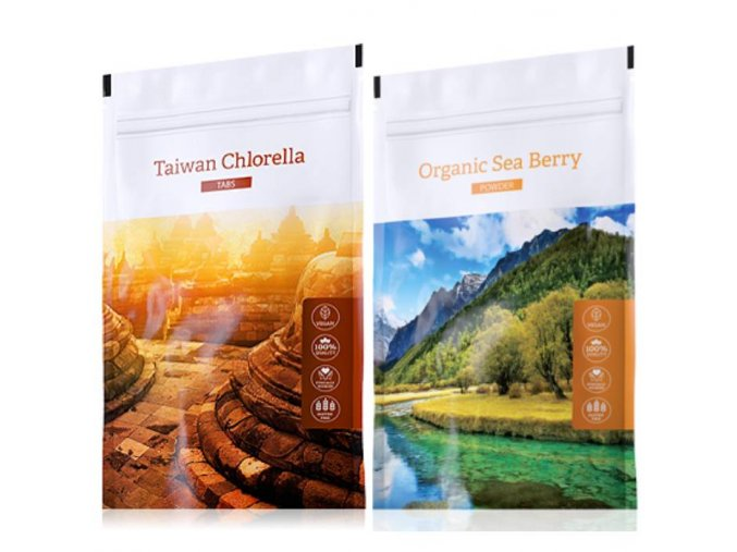 organic chlorella tabs sea berry