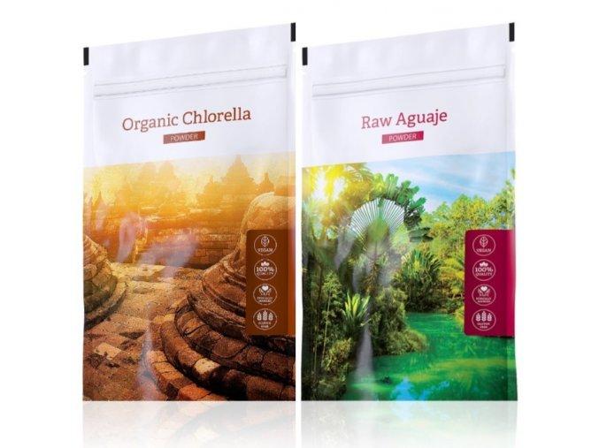 organic chlorella powder raw aguaje