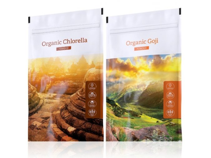 organic chlorella powder goji