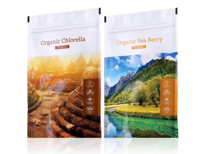 organic chlorella powder sea berra