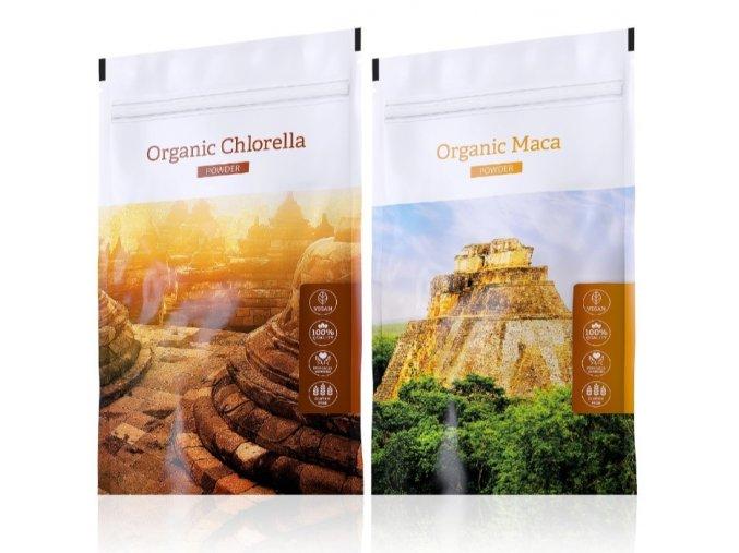 organic chlorella powder maca