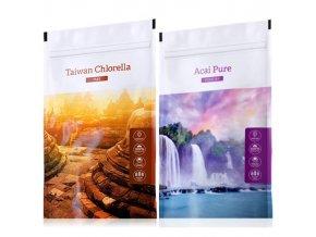 Organic chlorella tabs acai powder