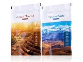 organic chlorella spirulina barley tabs