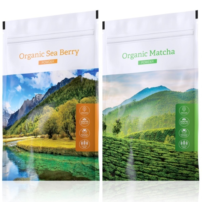 Energy Organic Sea Berry powder 100 g + Organic Matcha powder 50 g