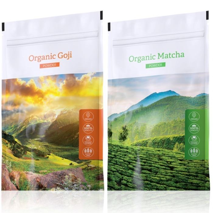 Energy Organic Goji powder 100 g + Organic Matcha powder 50 g
