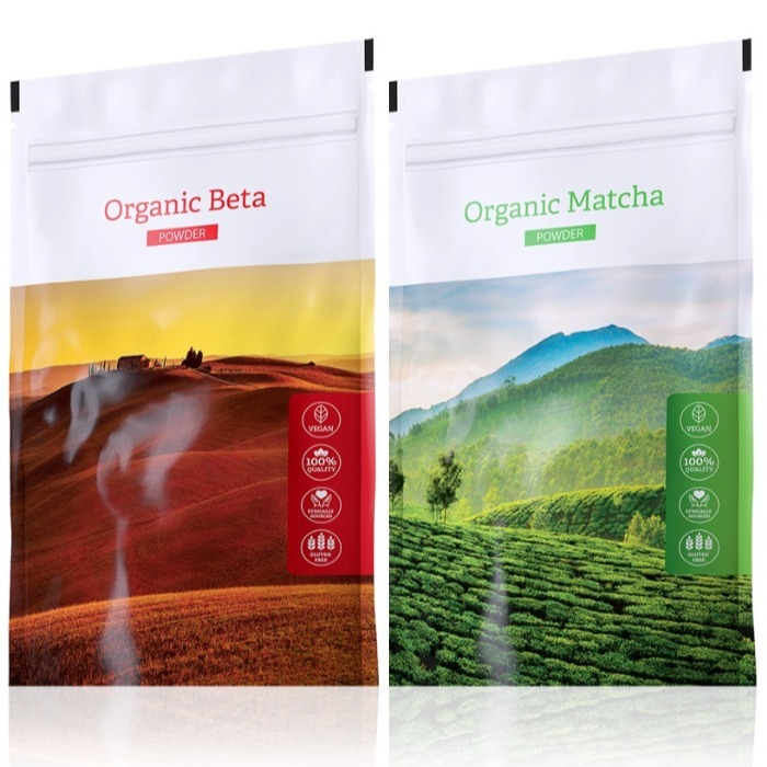 Energy Organic Beta powder 100 g + Organic Matcha powder 50 g expirace Organic Beta do září 2019