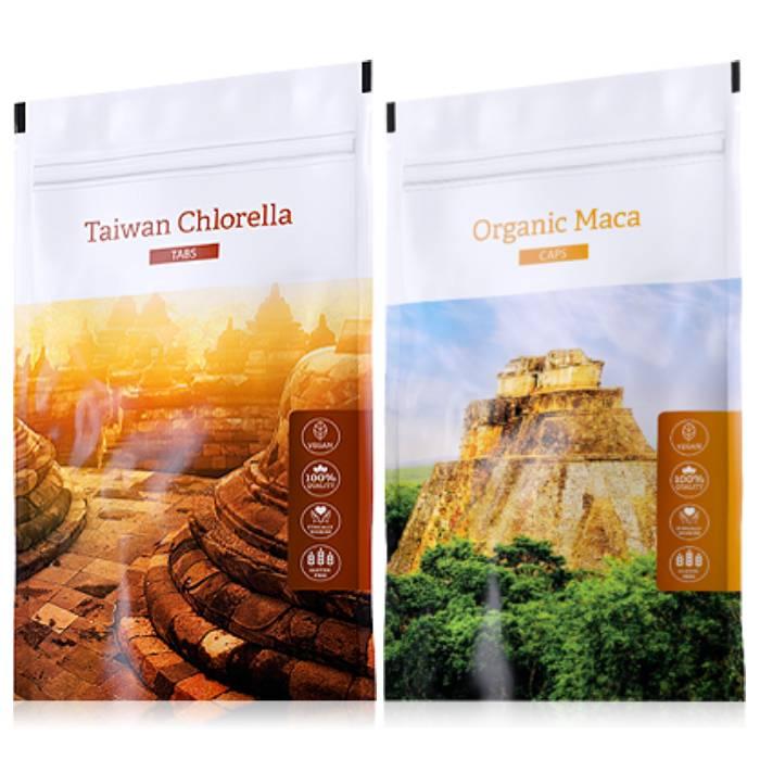 Energy Organic Chlorella tabs 200 tablet + Organic Maca powder 100 g