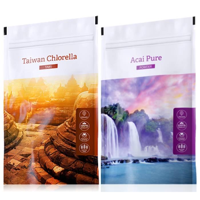 Energy Organic Chlorella tabs 200 tablet + Organic Acai powder 100 g