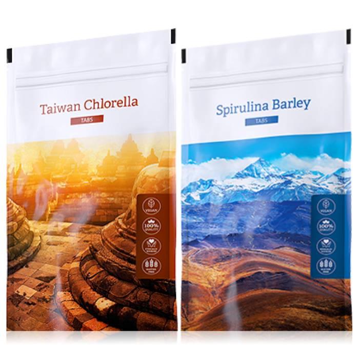 Energy Organic Chlorella tabs 200 tablet + Spirulina Barley tabs 200 tablet