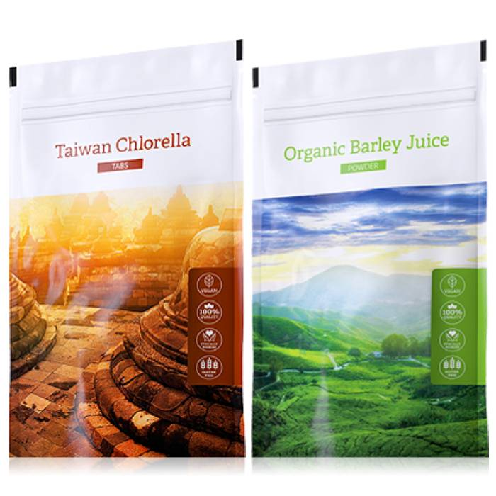 Energy Organic Chlorella tabs 200 tablet + Organic Barley Juice powder 100 g