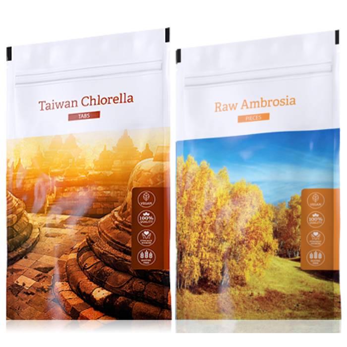 Energy Organic Chlorella tabs 200 tablet + Raw Ambrosia pieces 100 g