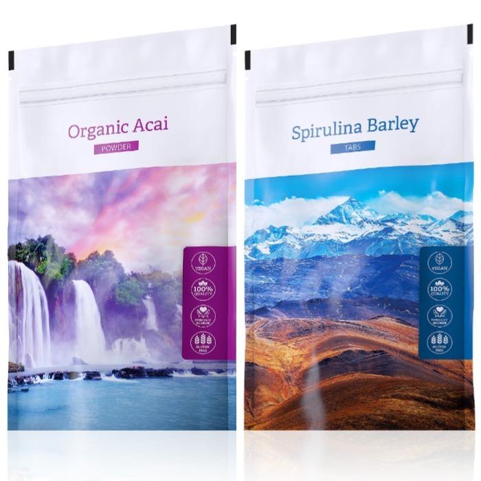 Energy Organic Acai powder 100 g + Spirulina Barley tabs 200 tablet