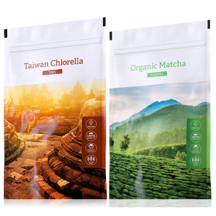 Energy Organic Chlorella tabs 200 tablet + Organic Matcha powder 50 g