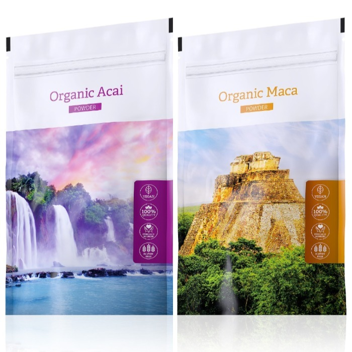 Energy Organic Acai powder 100 g + Organic Maca powder 100 g