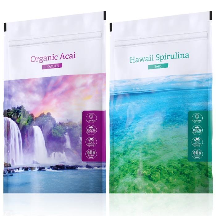 Energy Organic Acai powder 100 g + Hawaii Spirulina tabs 200 tablet
