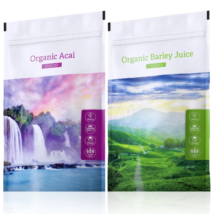 Energy Organic Acai powder 100 g + Organic Barley Juice powder 100 g