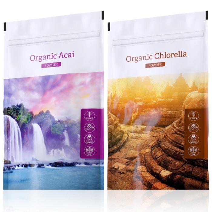 Energy Organic Acai powder 100 g + Organic Chlorella powder 100 g