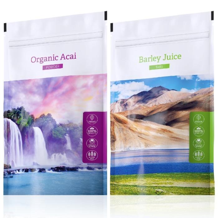 Energy Organic Acai powder 100 g + Barley Juice tabs 200 tablet