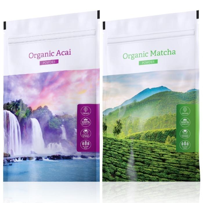 Energy Organic Acai powder 100 g + Organic Matcha powder 50 g
