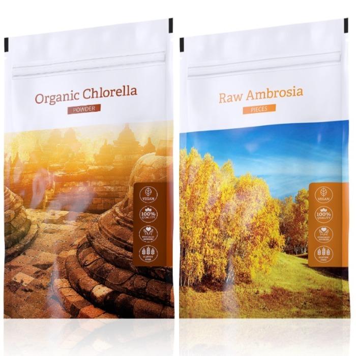 Energy Organic Chlorella powder 100 g + Raw Ambrosia pieces 100 g