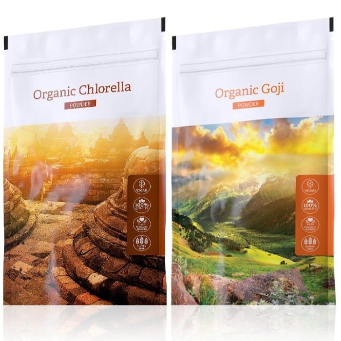 Energy Organic Chlorella powder 100 g + Organic Goji powder 100 g
