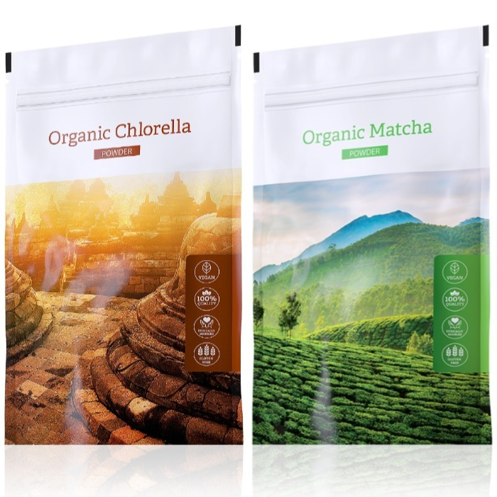 Energy Organic Chlorella powder 100 g + Organic Matcha powder 50 g