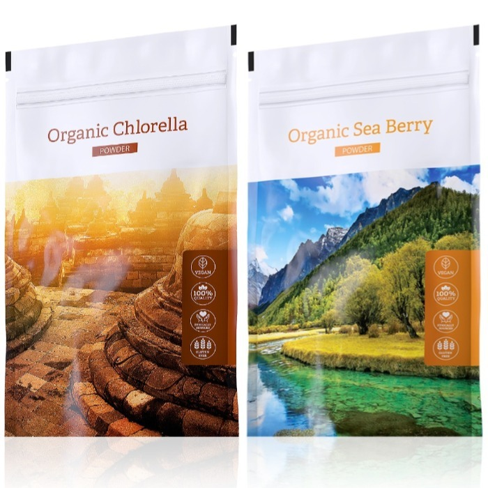 Energy Organic Chlorella powder 100 g + Organic Sea Berry powder 100 g