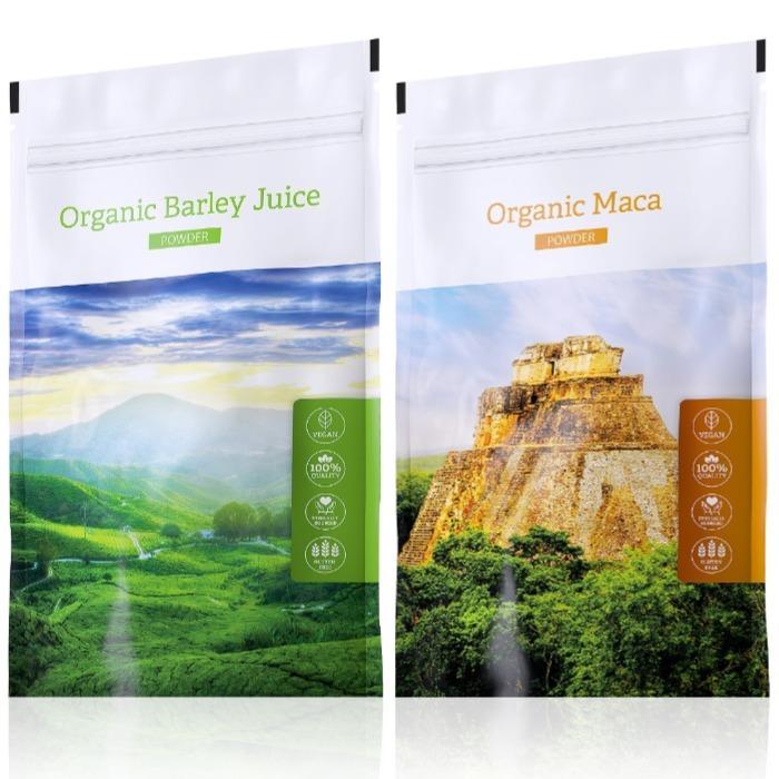 Energy Organic Maca powder 100 g + Organic Barley Juice powder 100 g