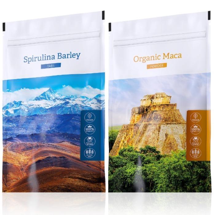 Energy Organic Maca powder 100 g + Spirulina Barley tabs 200 tablet