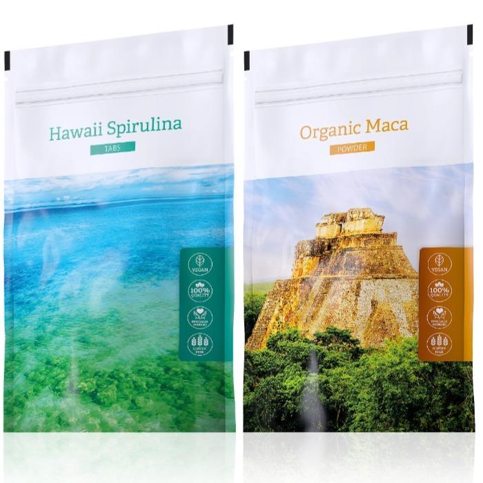 Energy Organic Maca powder 100 g + Hawaii Spirulina tabs 200 tablet