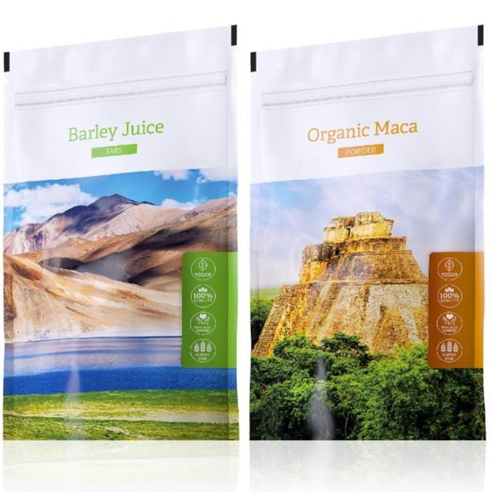 Energy Organic Maca powder 100 g + Barley Juice tabs 200 tablet