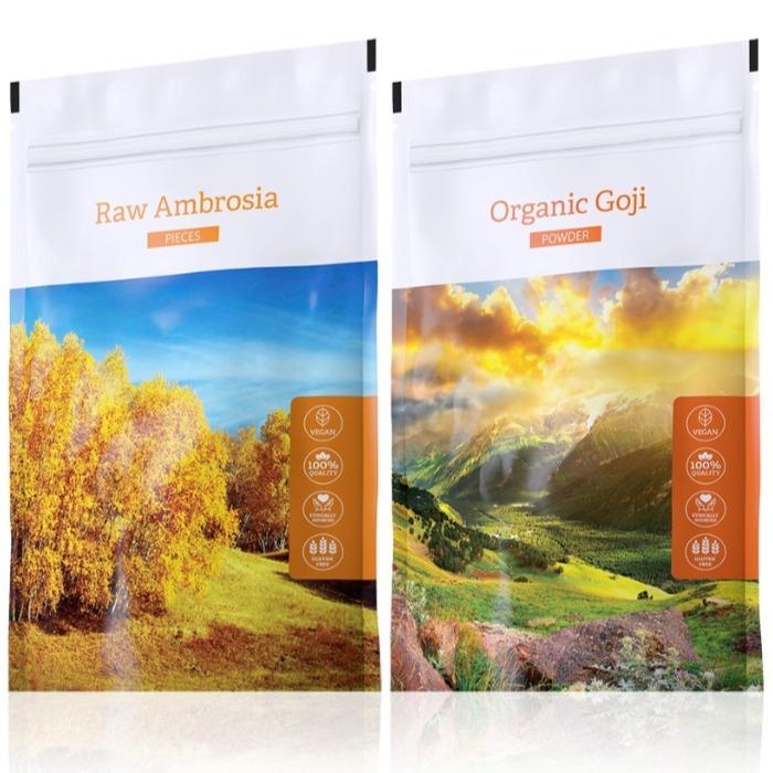 Energy Raw Ambrosia pieces 100 g + Organic Goji powder 100 g