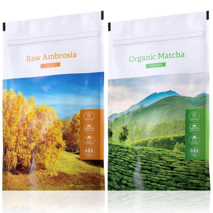 Energy Raw Ambrosia pieces 100 g + Organic Matcha powder 50 g