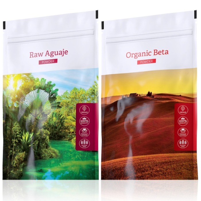 Energy Raw Aguaje powder 100 g + Organic Beta powder 100 g expirace Raw Aguaje do května 2019