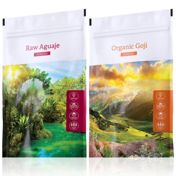 Energy Raw Aguaje powder 100 g + Organic Goji powder 100 g
