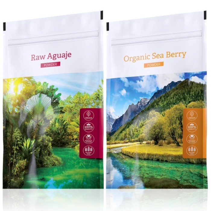 Energy Raw Aguaje powder 100 g + Organic Sea Berry powder 100 g