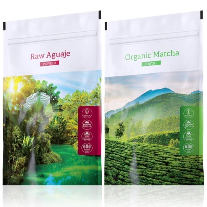 Energy Raw Aguaje powder 100 g + Organic Matcha powder 50 g