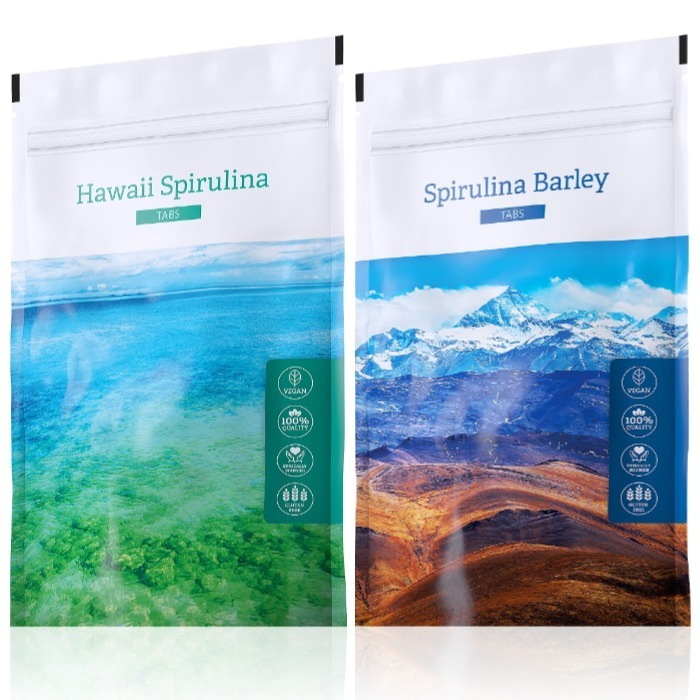 Energy Hawaii Spirulina tabs 200 tablet + Spirulina Barley tabs 200 tablet