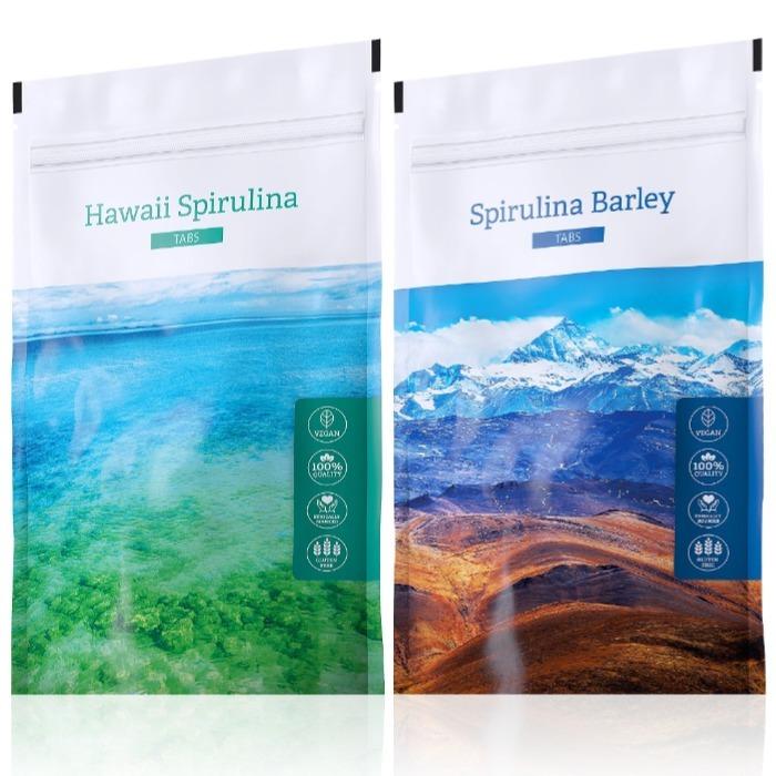 Energy Hawaii Spirulina tabs 200 tablet + Spirulina Barley tabs 200 tablet
