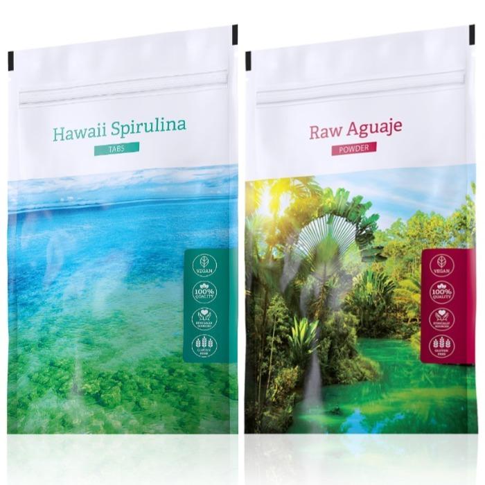 Energy Hawaii Spirulina tabs 200 tablet + Raw Aguaje powder 100 g