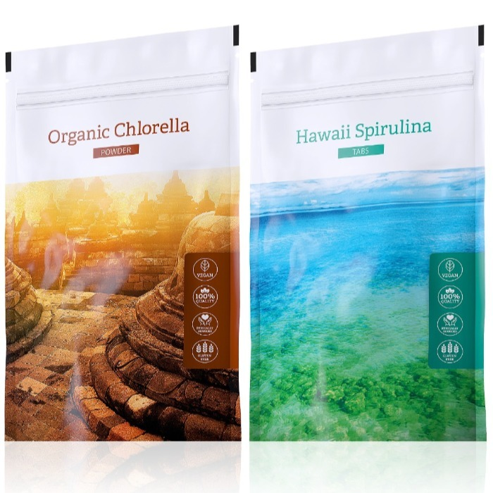 Energy Hawaii Spirulina tabs 200 tablet + Organic Chlorella powder 100 g