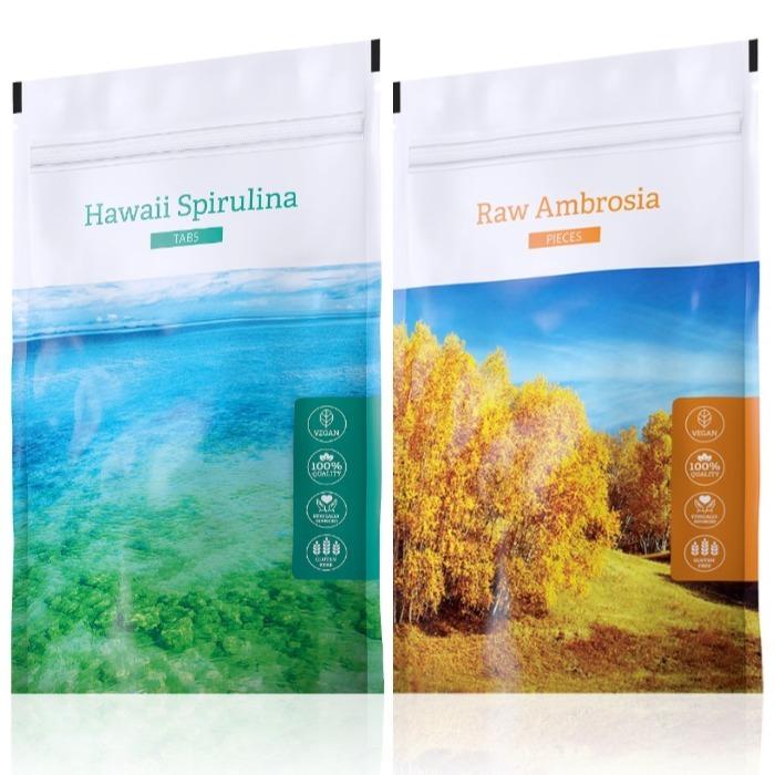 Energy Hawaii Spirulina tabs 200 tablet + Raw Ambrosia pieces 100 g