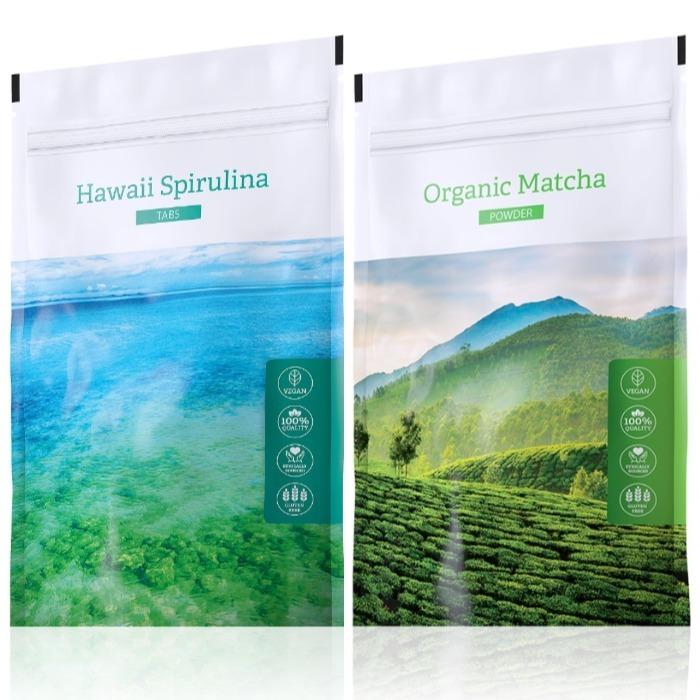 Energy Hawaii Spirulina tabs 200 tablet + Organic Matcha powder 50 g