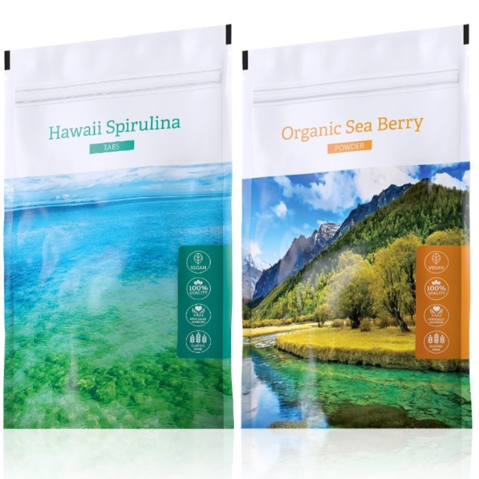 Energy Hawaii Spirulina tabs 200 tablet + Organic Sea Berry powder 100 g