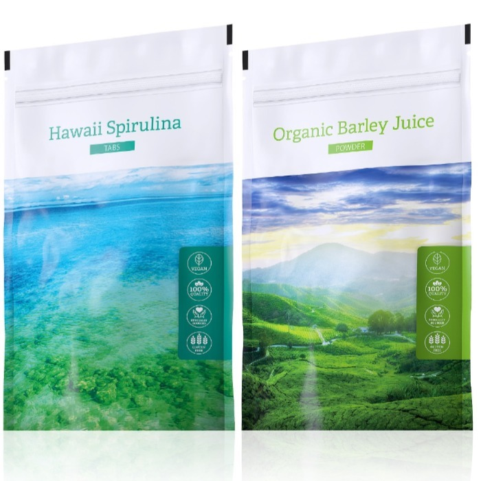 Energy Organic Barley Juice powder 100 g + Hawaii Spirulina tabs 200 tablet