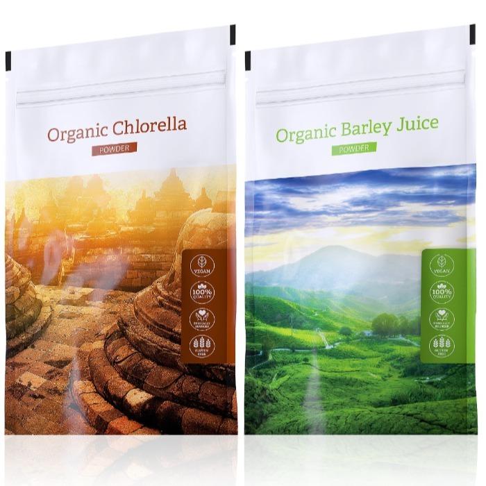 Energy Organic Barley Juice powder 100 g + Organic Chlorella powder 100 g
